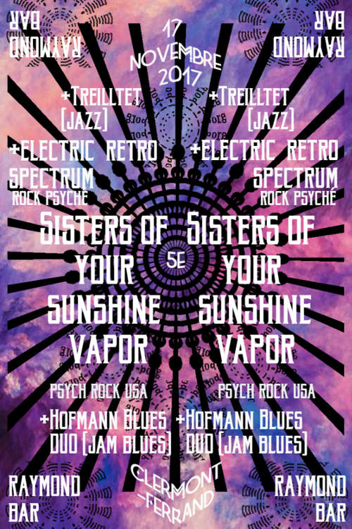 Sisters of your sunshine vapor / Electric retro spectrum / Guests