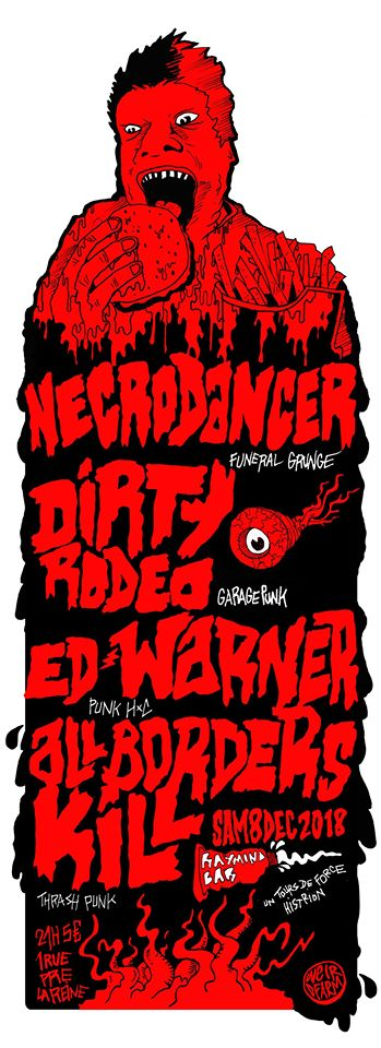 Necro Dancer / Ed Warner / All Borders Kill / Dirty Rodeo