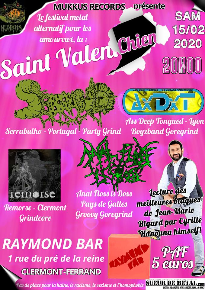 FÉV 15 Saint Val'en chien Clermont ! Metal festival alternatif